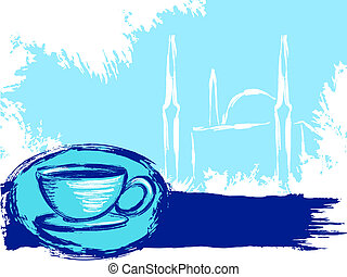 Grungy Turkish coffee background