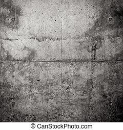 grungy, vägg, konkret