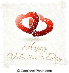 Grungy Valentine's Day Background