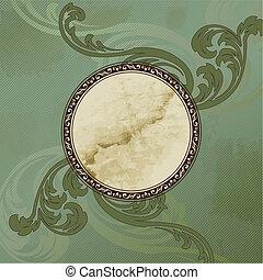 Grungy Victorian vintage emblem