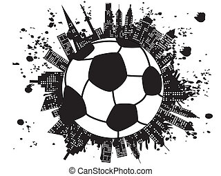 grungy, ville, football
