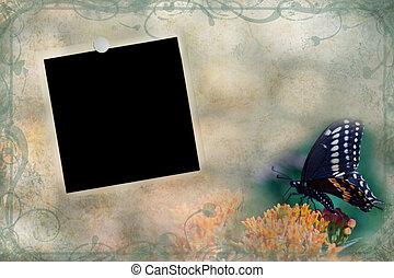 Grungy Vintage Photo Background - Photo based illustration...