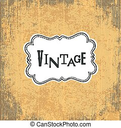 Grungy Vintage Yellow Background