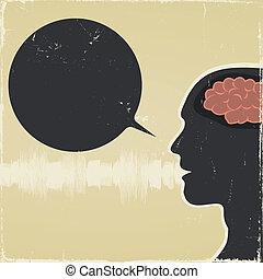 grungy, voce, umano