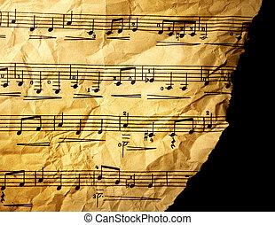 grungy, zenés, háttér