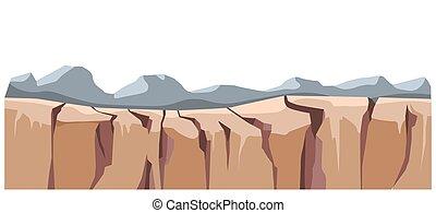 gruntowy, skala, sztywny, powierzchnia, krajobraz, góra