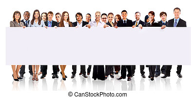 grupa, ad, handlowy zaludniają, odizolowany, dzierżawa, biały, chorągiew