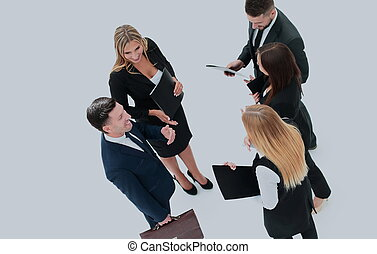grupa, handlowy, ludzie., odizolowany, businessman., biały, backgro