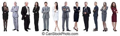 grupa, handlowy zaludniają, pomyślny, odizolowany, biały