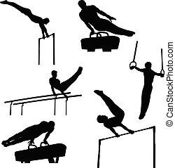 grupa, komplet, gimnastyka, lekkoatletyka