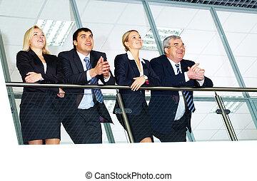 grupa, od, businesspeople