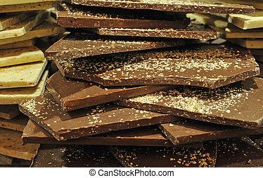 grupa, od, czekolada