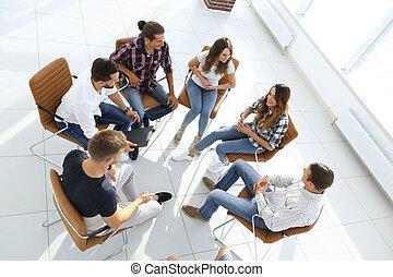 grupa, od, pracownicy, niejaki, lekcja, na, zaprzęg budowa
