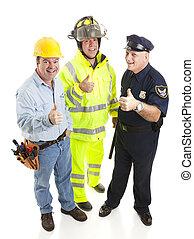 grupa, od, pracownicy, -, thumbsup