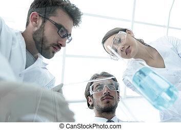 grupa, od, studenci, w lab