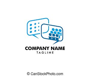grupa, pogawędka, ludzie, projektować, szablon, logo