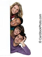 grupa, przedstawianie, młodzież