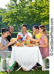 grupa, przyjaciele, multiethnic