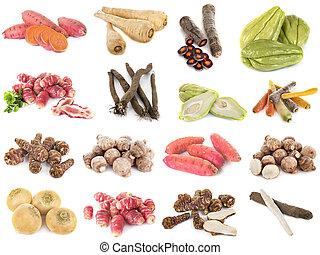 grupa, starożytny, warzywa
