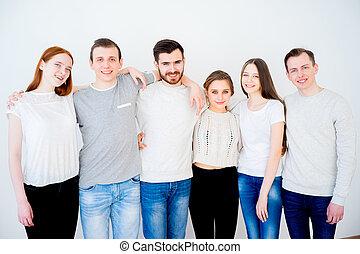 grupo, amigos