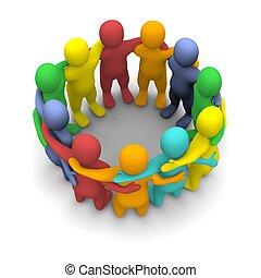 grupo, amigos, social