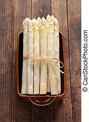 grupo, aspargo branco