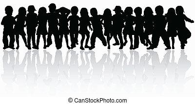 grupo, bailando