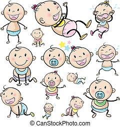 grupo, bebes
