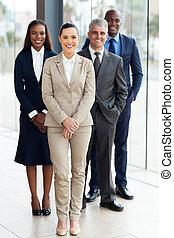 grupo, businesspeople, escritório