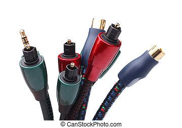 grupo, cabos, audio/video