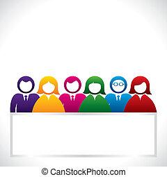 grupo, coloridos, pessoas