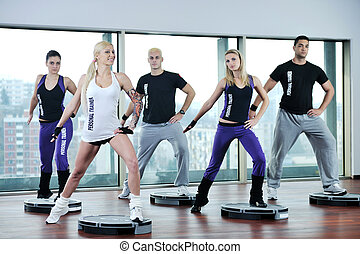 grupo, condicão física