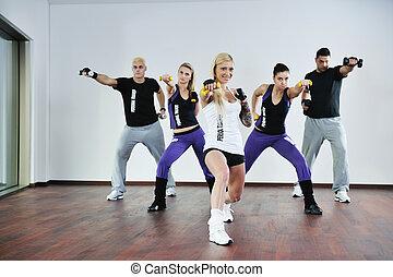 grupo, condición física