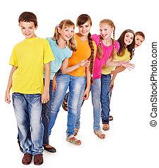 grupo, de, adolescente, personas.
