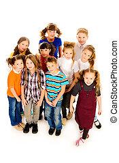 grupo, de, adolescentes