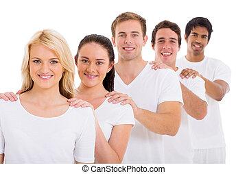 grupo de amigos, posición, consecutivo