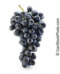 grupo, de, azul, uva, aislado