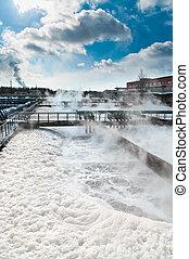 grupo, de, el, grande, sedimentación, drainages., agua,...