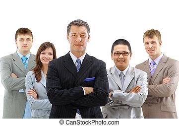 grupo, de, empresa / negocio, personas., aislado, encima, fondo blanco