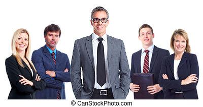 grupo, de, empresa / negocio, personas.