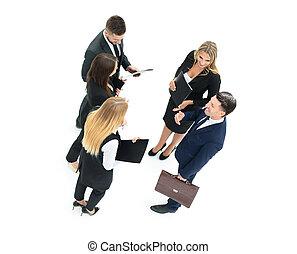 grupo, de, empresa / negocio, personas., businessman., aislado, blanco, backgro