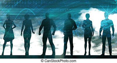 grupo de empresarios, posición