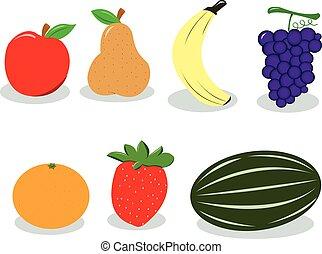 grupo, de, fruta