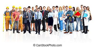 grupo, de, industrial, workers.