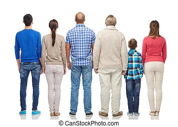 grupo de las personas, de, espalda