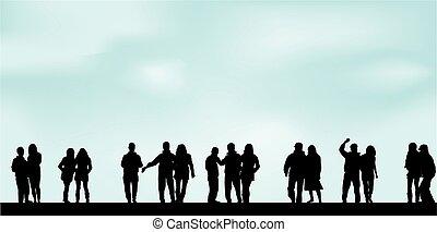 grupo de las personas