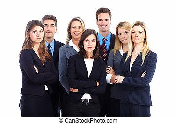 grupo, de, negócio, pessoas.