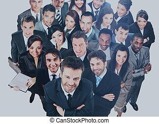 grupo, de, negócio, pessoas., isolado, sobre, fundo branco