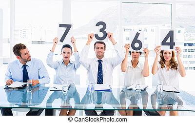 grupo, de, panel, jueces, tenencia, raya, señales
