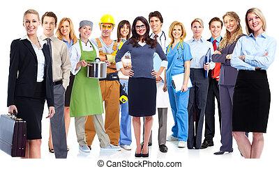 grupo, de, workers.